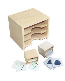 Cabinet for Geometric Form Cards & Leaf Cards (3 Shelves)