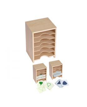 Cabinet for Geometric Form Cards & Leaf Cards (6 Shelves)