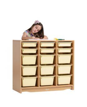 "Tote Shelf 3' x 32"" w/ Totes"