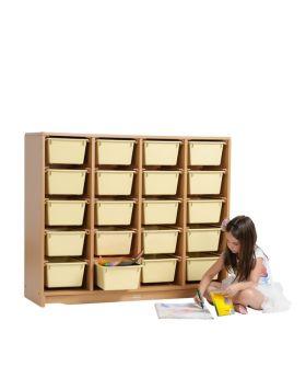 "Tote Shelf 4' x 40"" w/ Totes"
