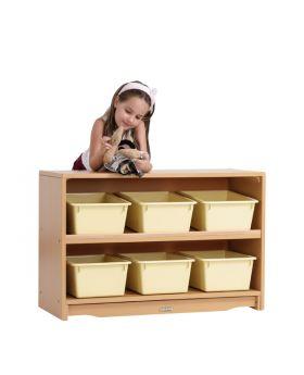 "Craft Shelf - 3' x 24"" w/ Totes"