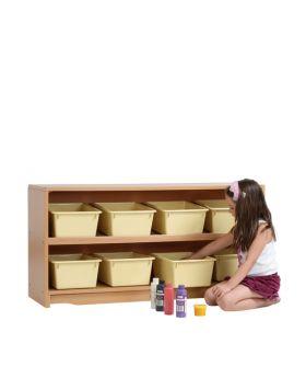 "Craft Shelf - 4' x 24"" w/ Totes"