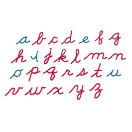 Small Movable Alphabet (Cursive, Mix Blue & Red)