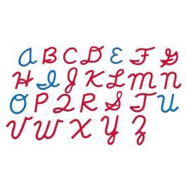 Small Movable Alphabet (Capital, Cursive, Mix Blue & Red))