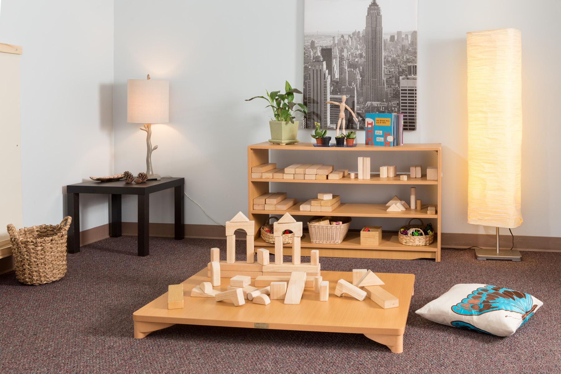 Blocks on table